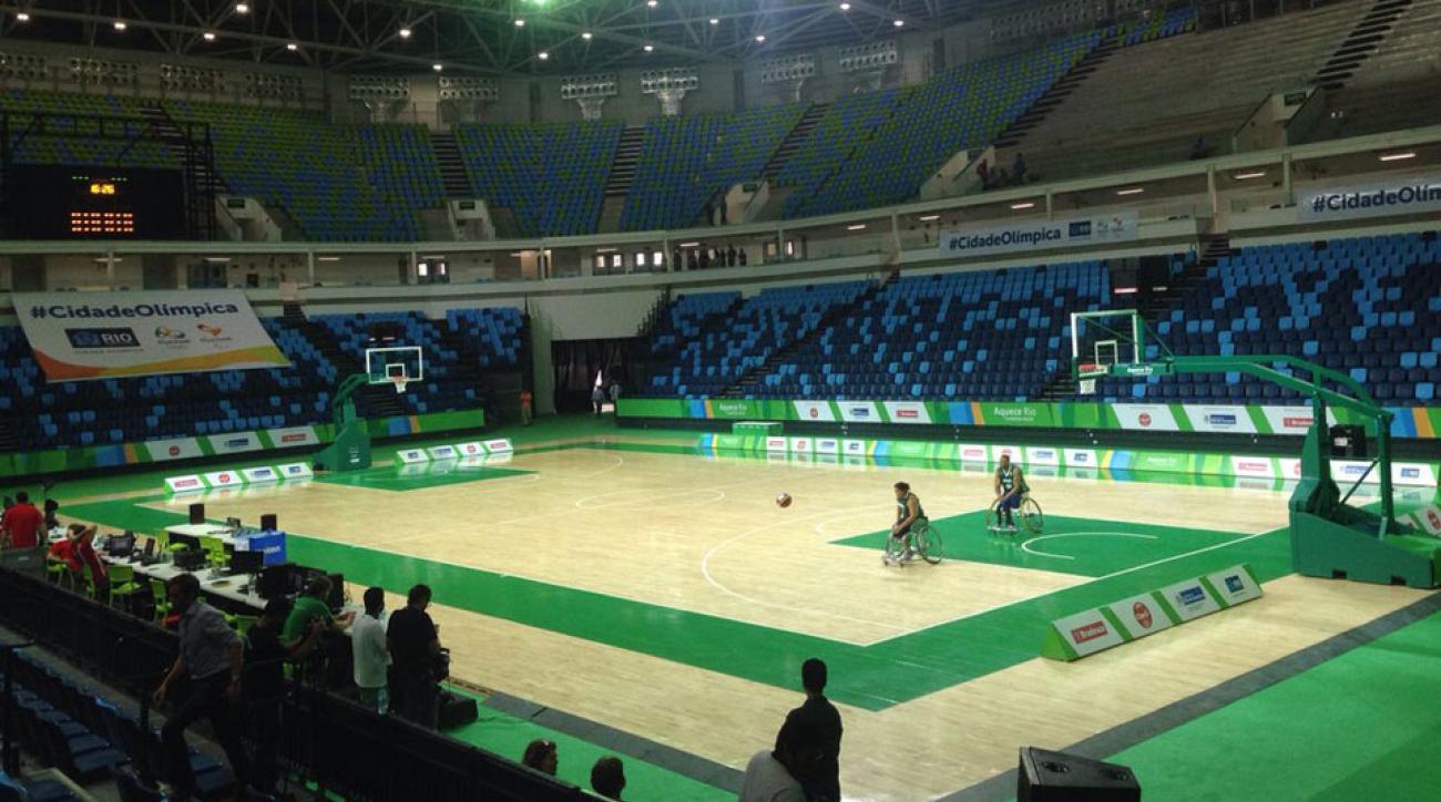2016 olympic basketball court unveiled rio de janeiro
