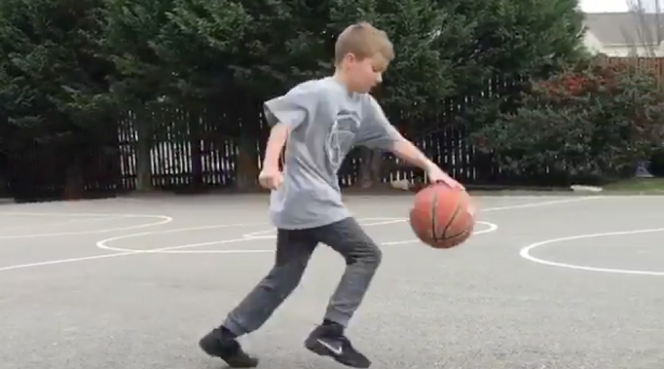 kid stephen curry dribble moves video