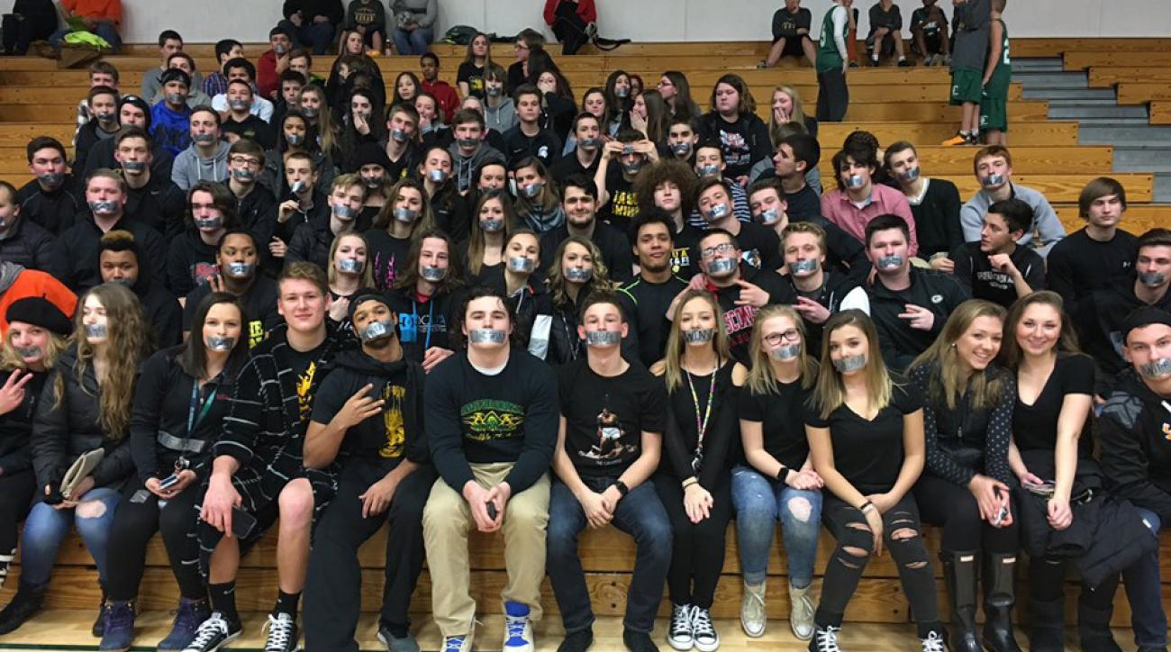 students protest wiaa chant rules