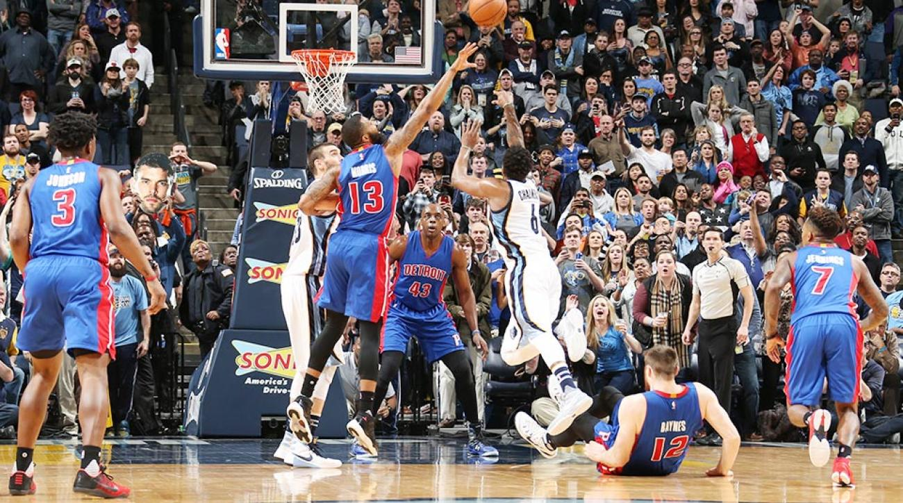 Memphis Grizzlies Detroit Pistons Mario Chalmers game-winner video