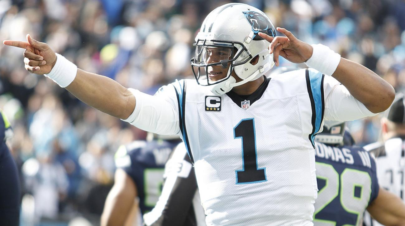 cam newton panthers seahawks stats nfl playoffs