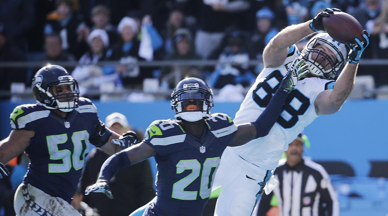 greg olsen panthers seahawks touchdown video