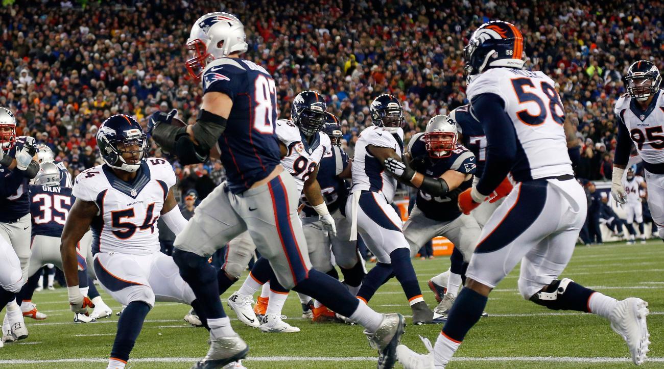 best website 13765 1474e Denver Broncos' Brandon Marshall says Rob Gronkowski pushes ...