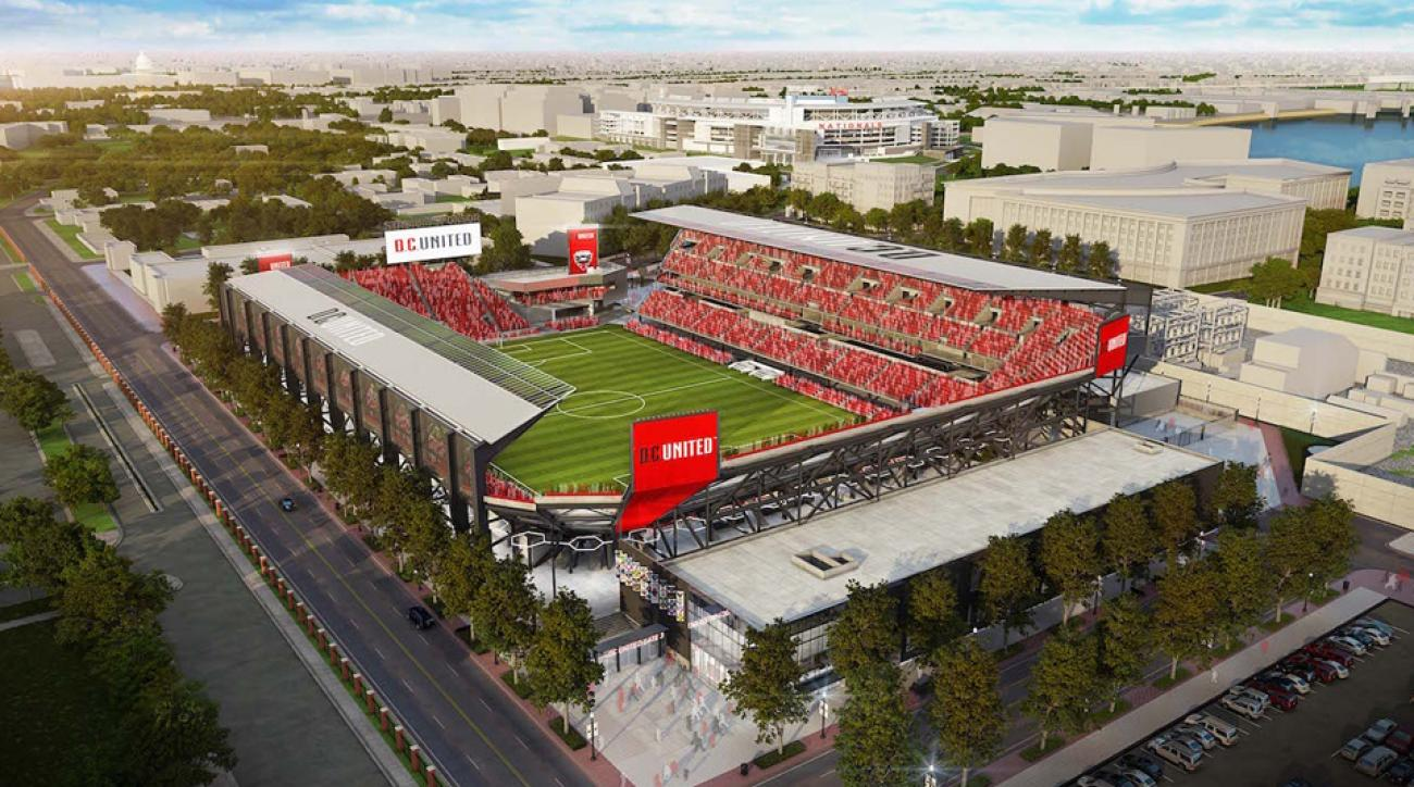 D.C. United's new stadium at Buzzard Point