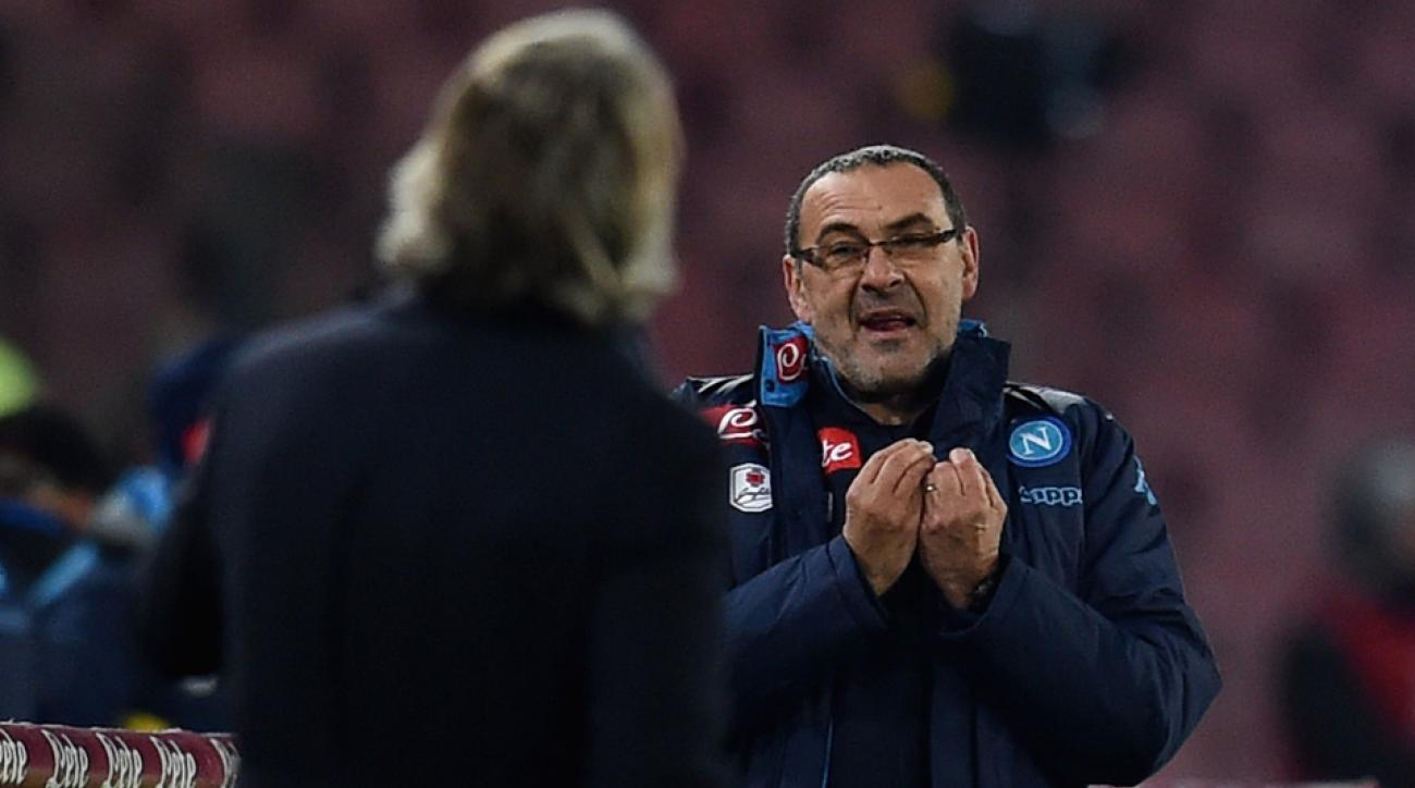 Maurizio Sarri reportedly said anti-gay slurs to Roberto Mancini in Napoli's match vs. Inter Milan