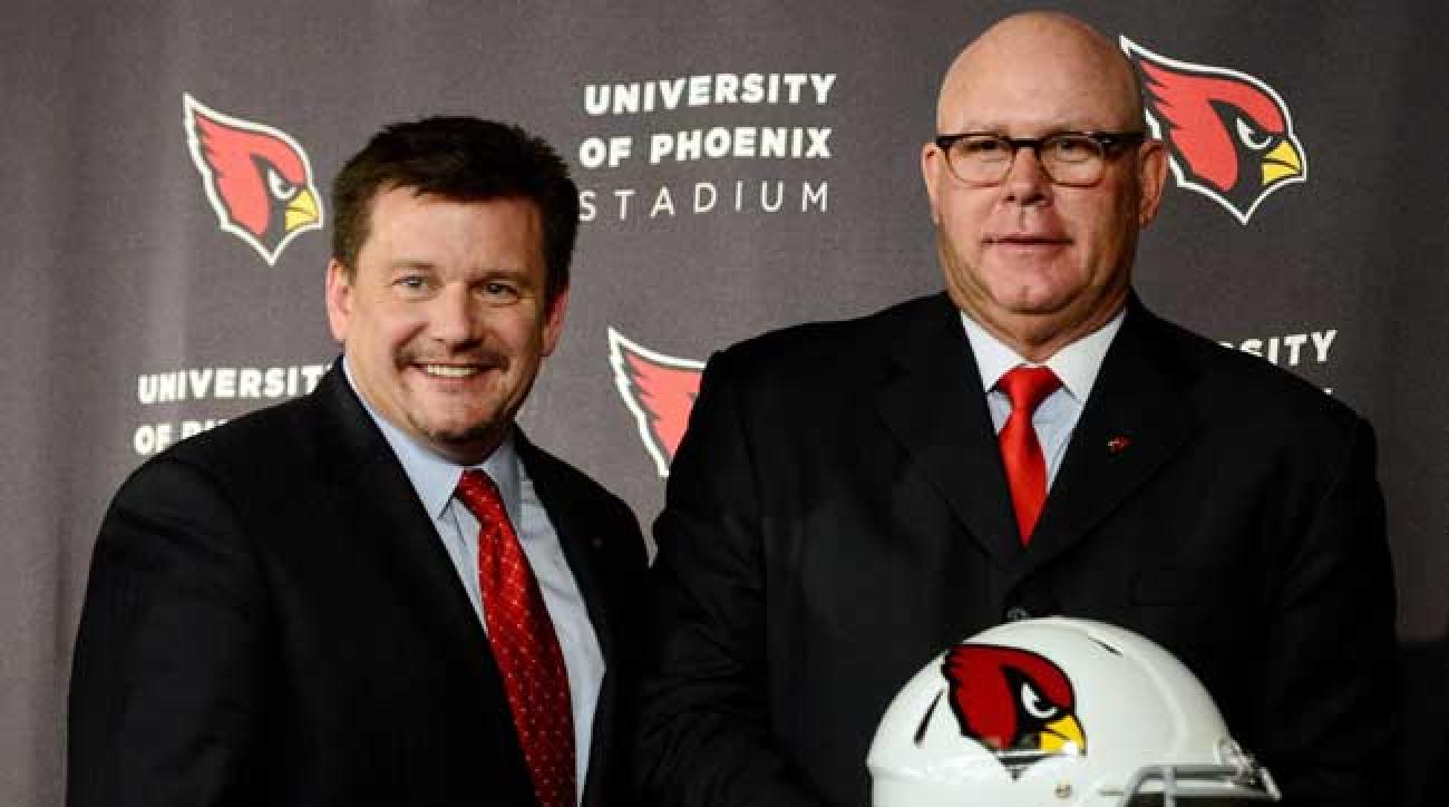 Arizona Cardinals owner Michael Bidwill and coach Bruce Arians.
