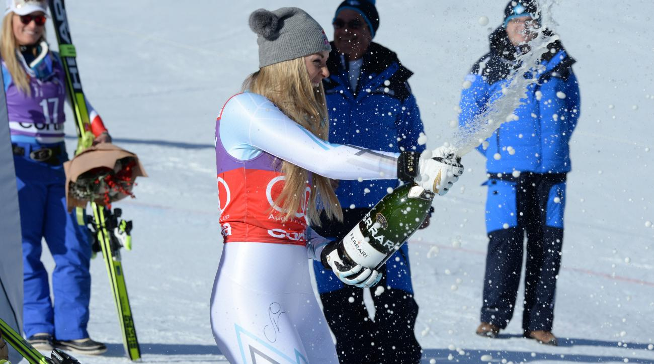 lindsey vonn world record downhill victories skiing