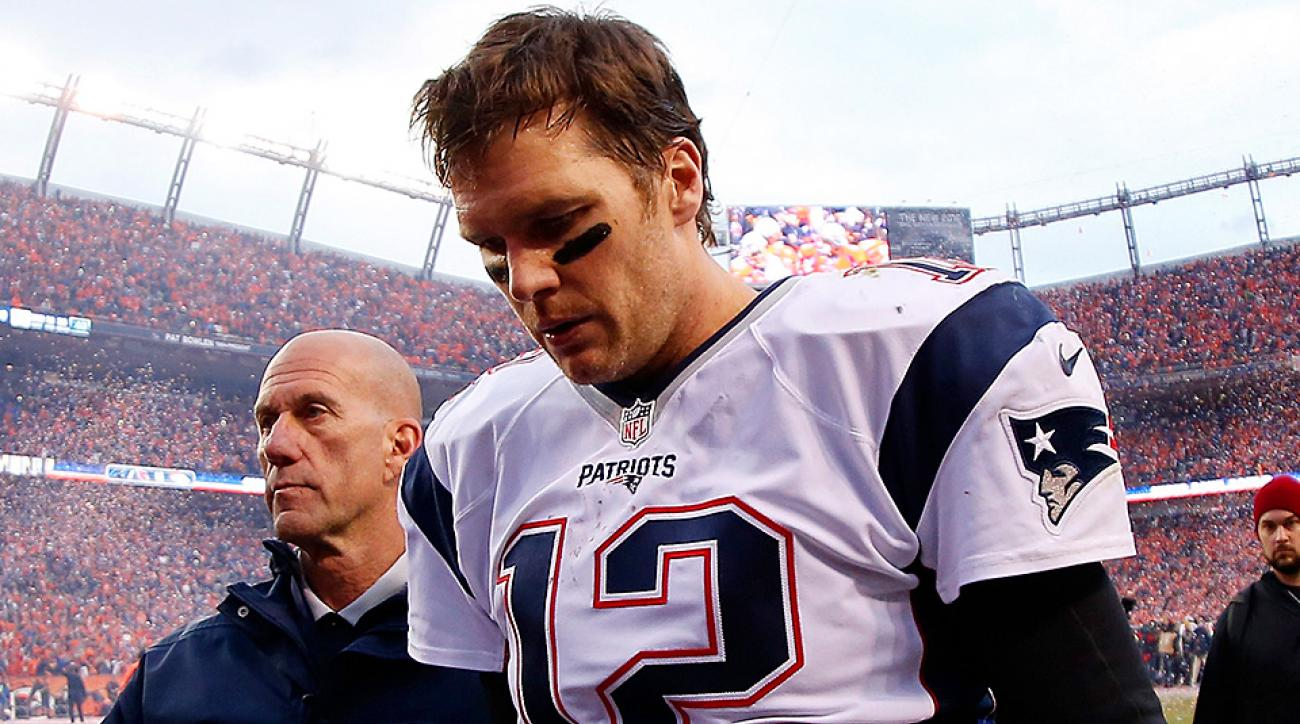 Tom Brady, Patriots will be haunted by bad protection, poor throws in AFC title game loss to Broncos.