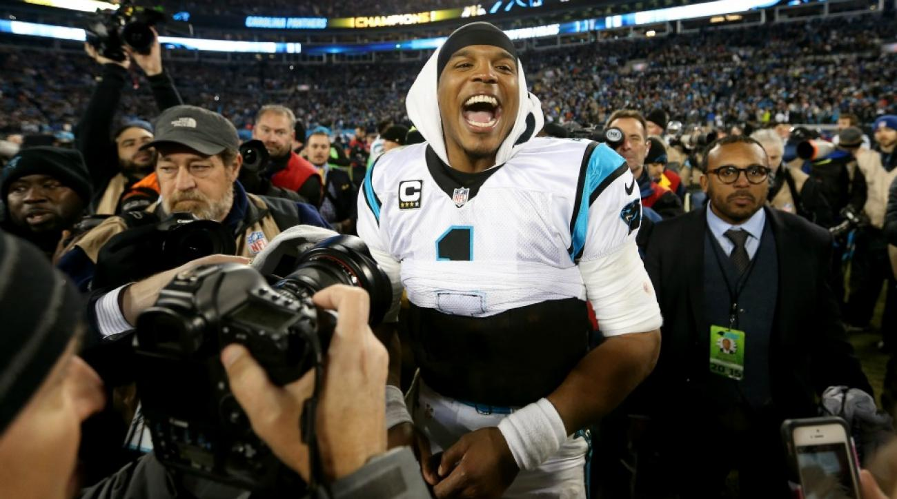 Carolina Panthers' Cam Newton, Charles Johnson celrbrate win in nightclub