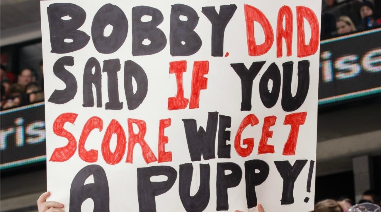 Ottawa Senators' Bobby Ryan gets fans a puppy with goal