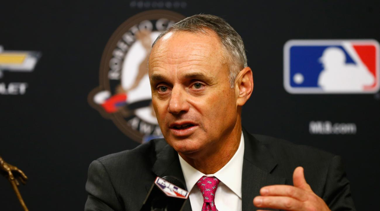 MLB commissioner Rob Manfred discusses domestic violence policy