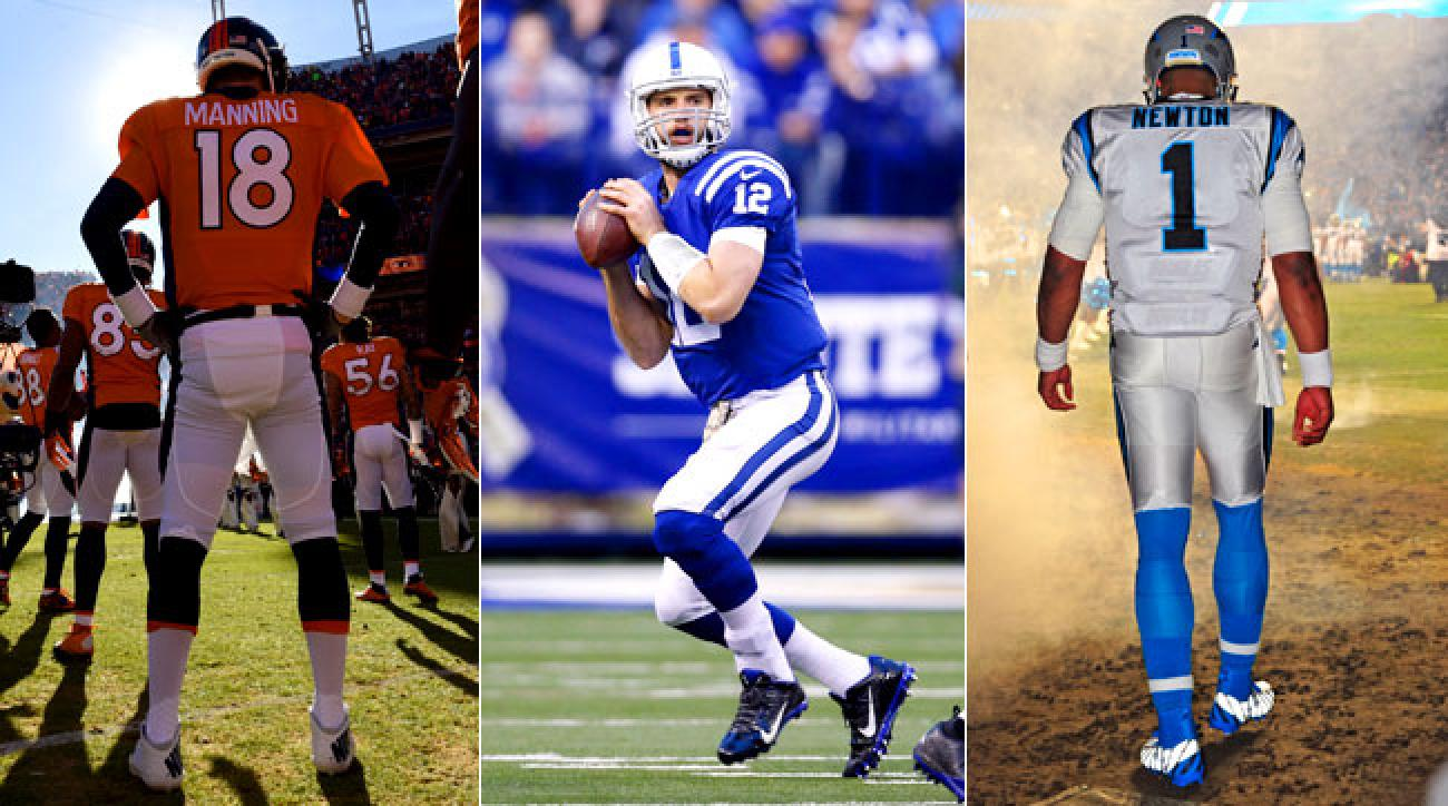 Peyton Manning, Andrew Luck and Cam Newton