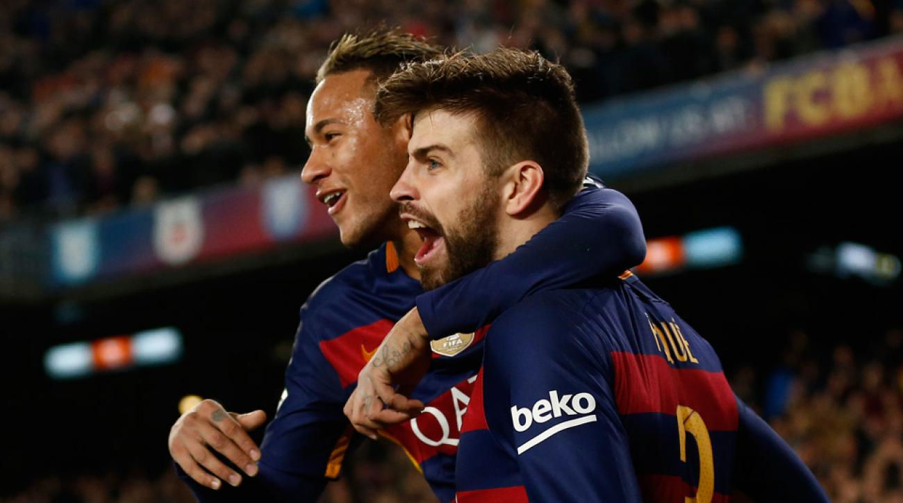 Gerard Pique and Barcelona are headed back to the Copa del Rey semifinals