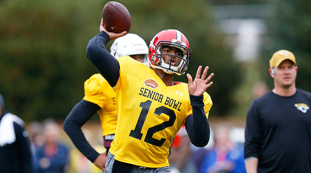Senior Bowl Day 2: Jacoby Brissett has right attitude to impress teams