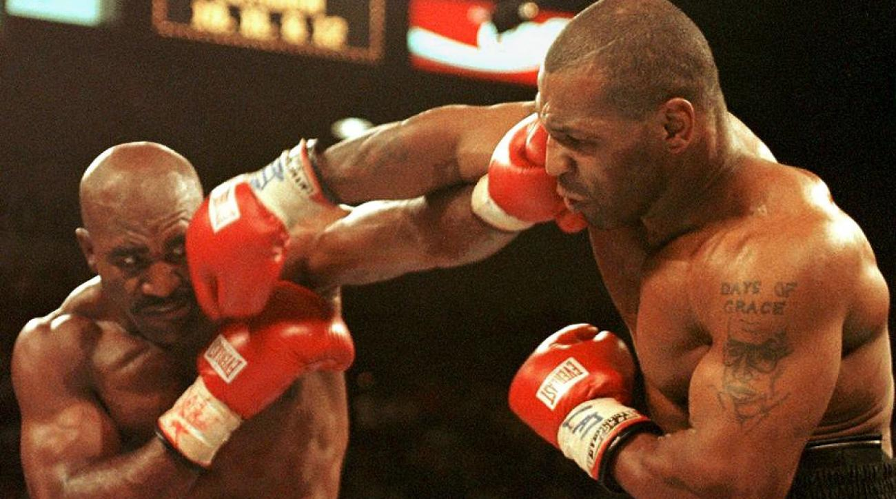 evander holyfield mike tyson bite fight to air showtime