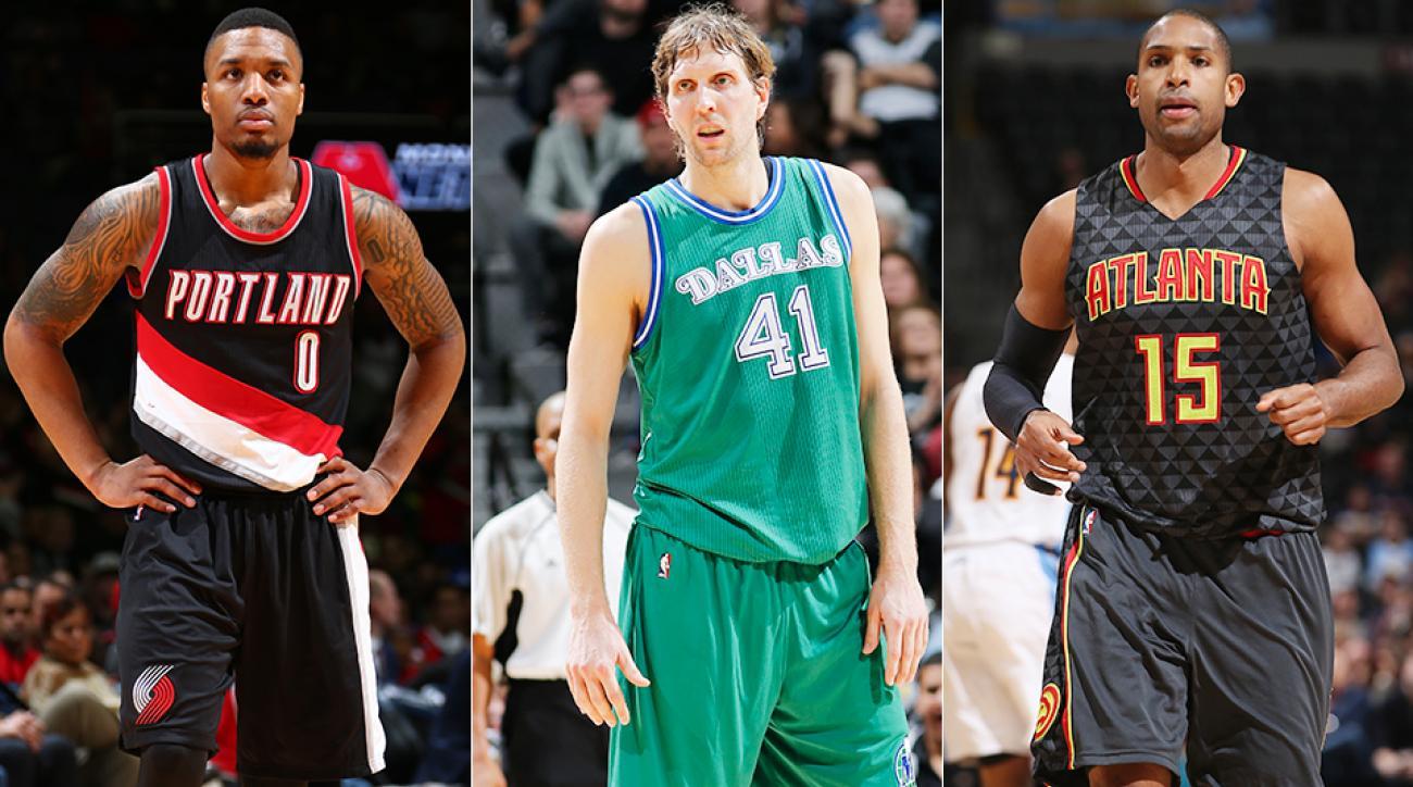 2016 NBA All-Star Game snubs Dirk Nowitzki Al Horford