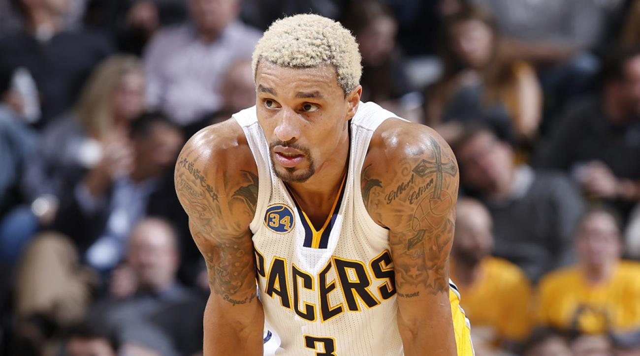 george hill pacers blond hair