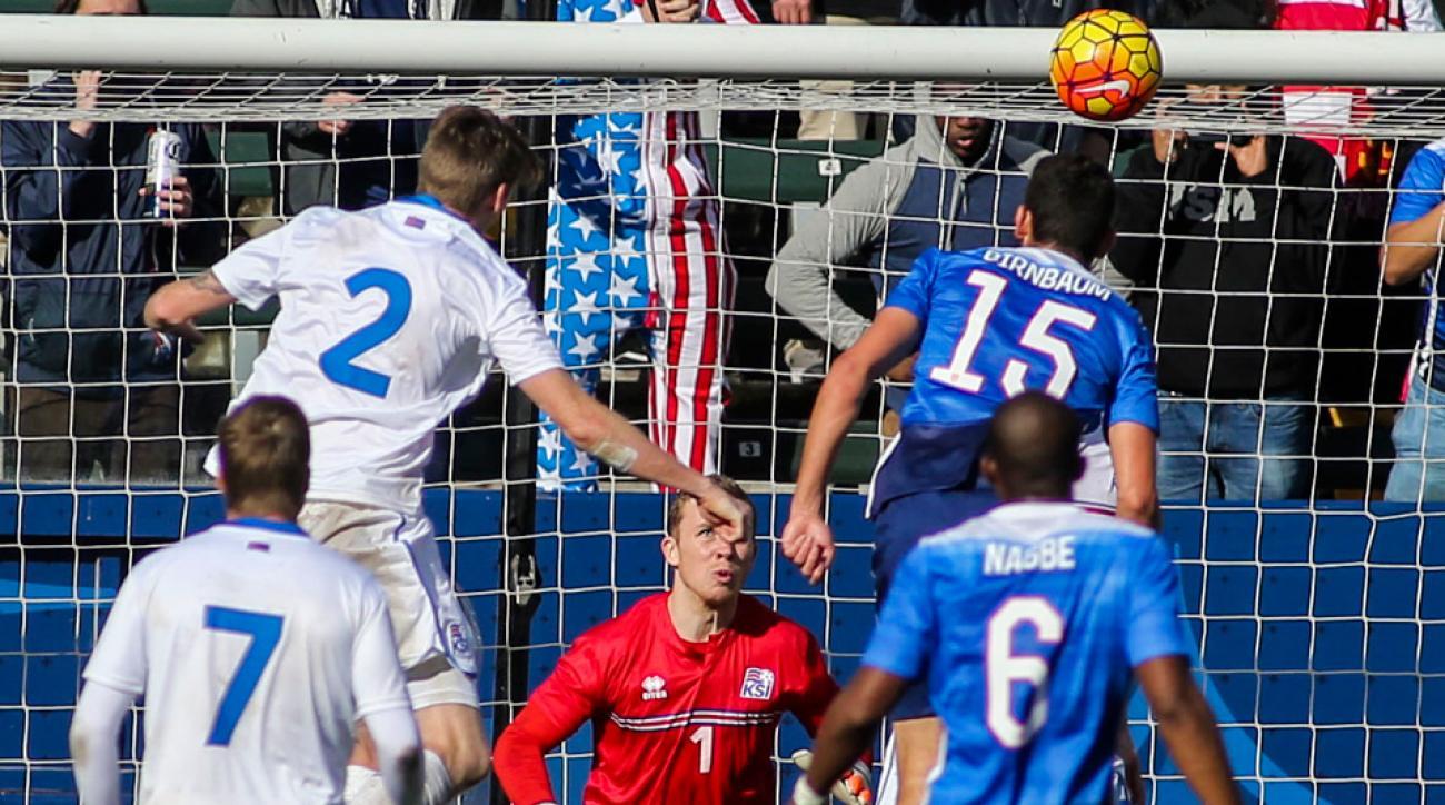Steve Birnbaum scores the game-winning goal for the USA vs. Iceland