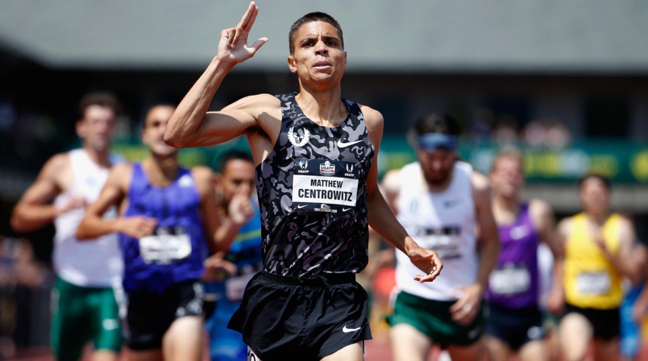 matt centrowitz runner dabbing after 354 mile
