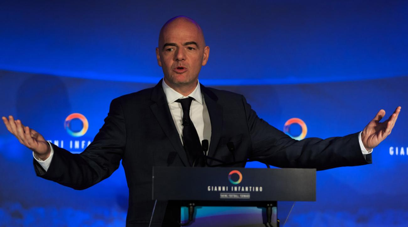 Gianni Infantino presents his plan if elected FIFA president