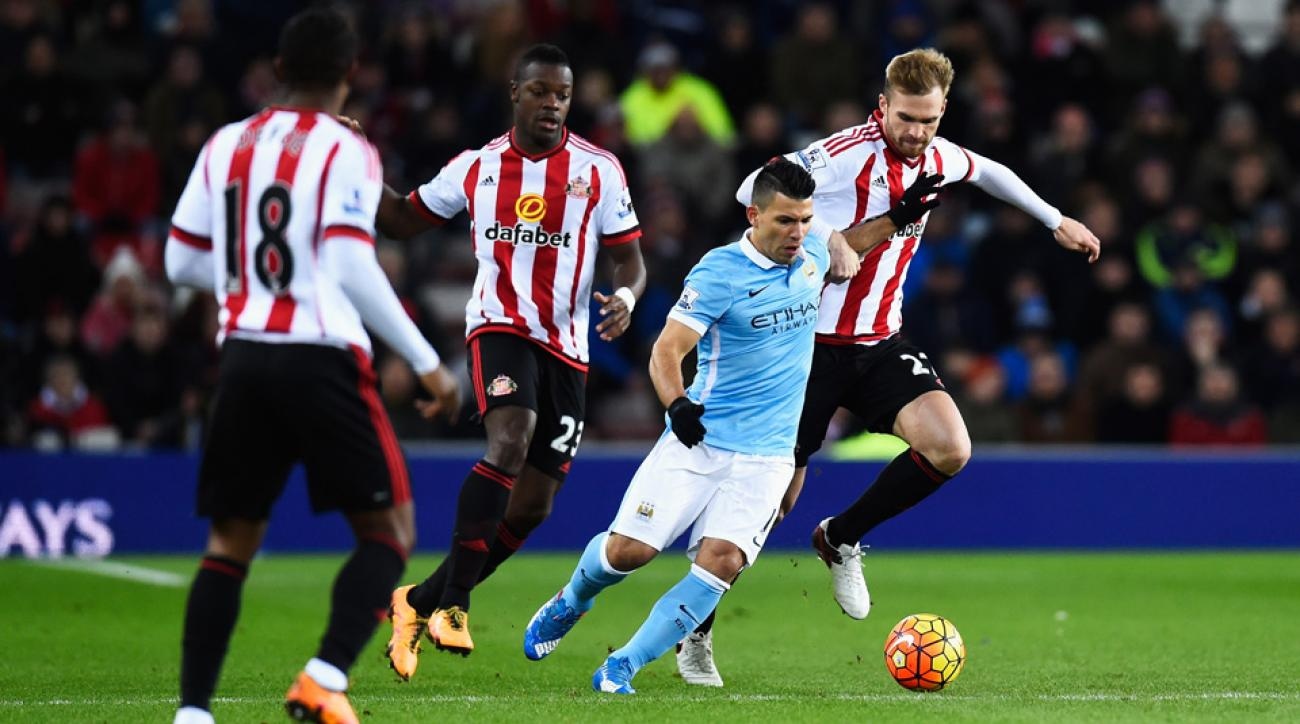 Sergio Aguero's goal lifted Manchester City over Sunderland