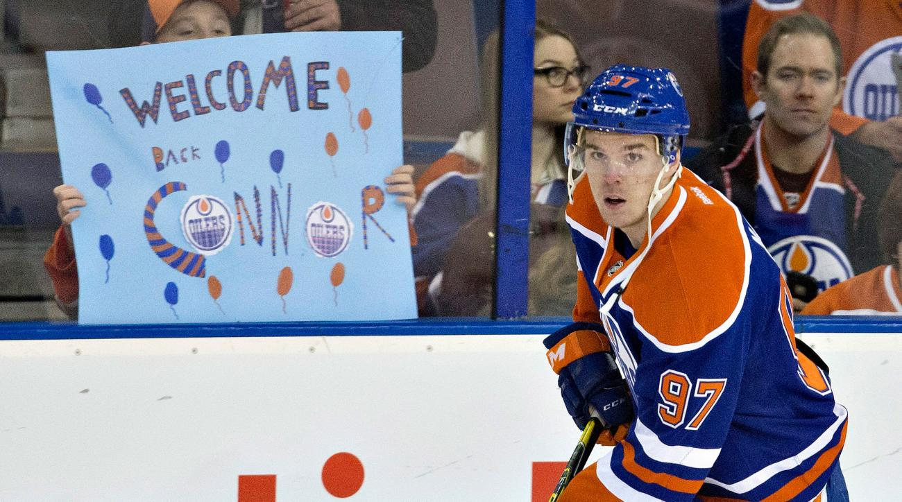 video edmonton oilers connor mcdavid scores first game back