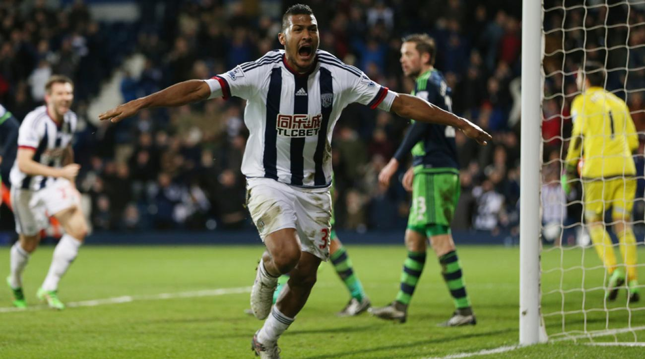 West Brom tied Swansea City with a late goal in the Premier League