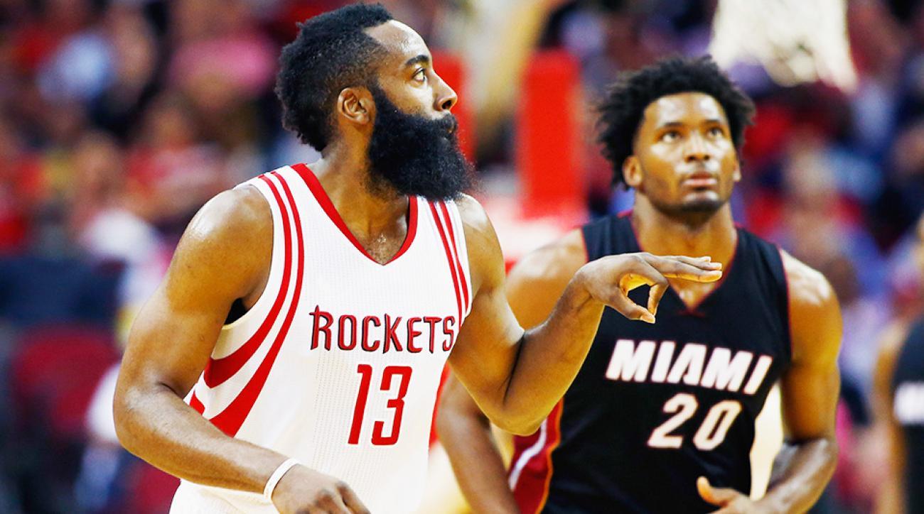 Houston Rockets Miami Heat James Harden assists