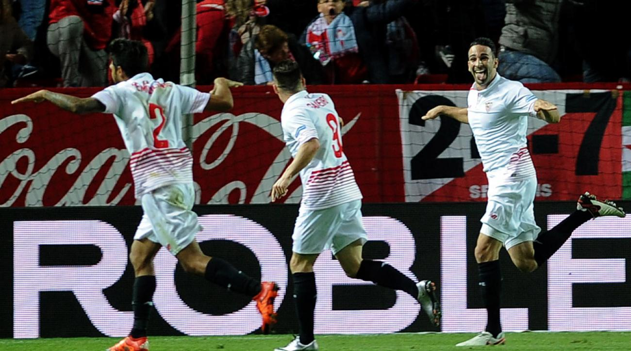 Sevilla routs Celta Vigo in the first leg of their Copa del Rey semifinal