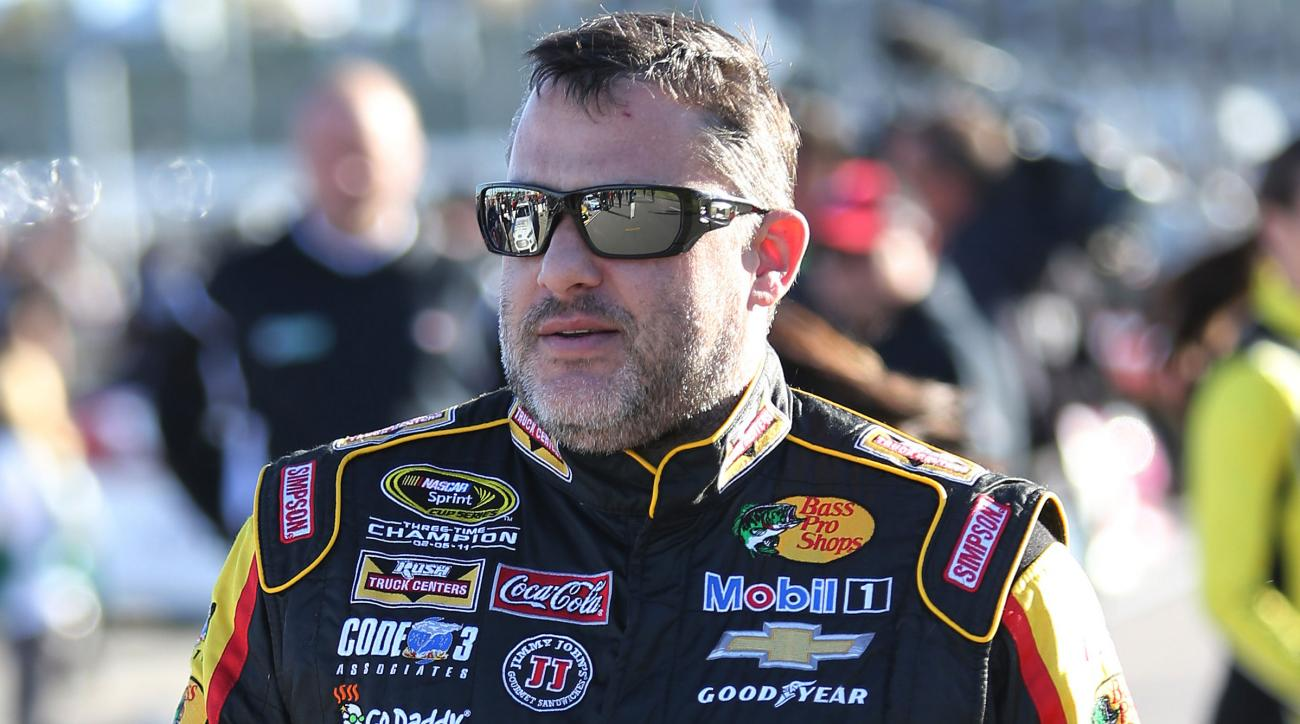 tony stewart out back injury sprint cup