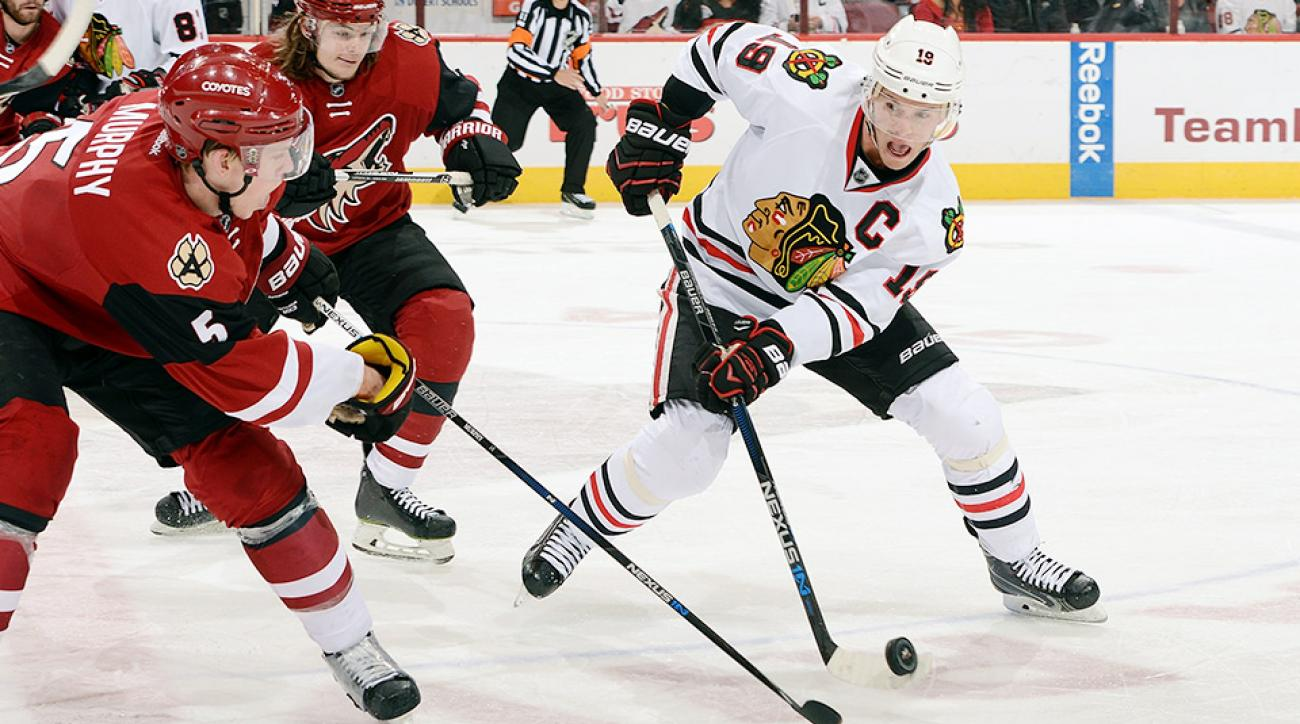 Jonathan Toews Chicago Blackhawks Arizona Coyotes