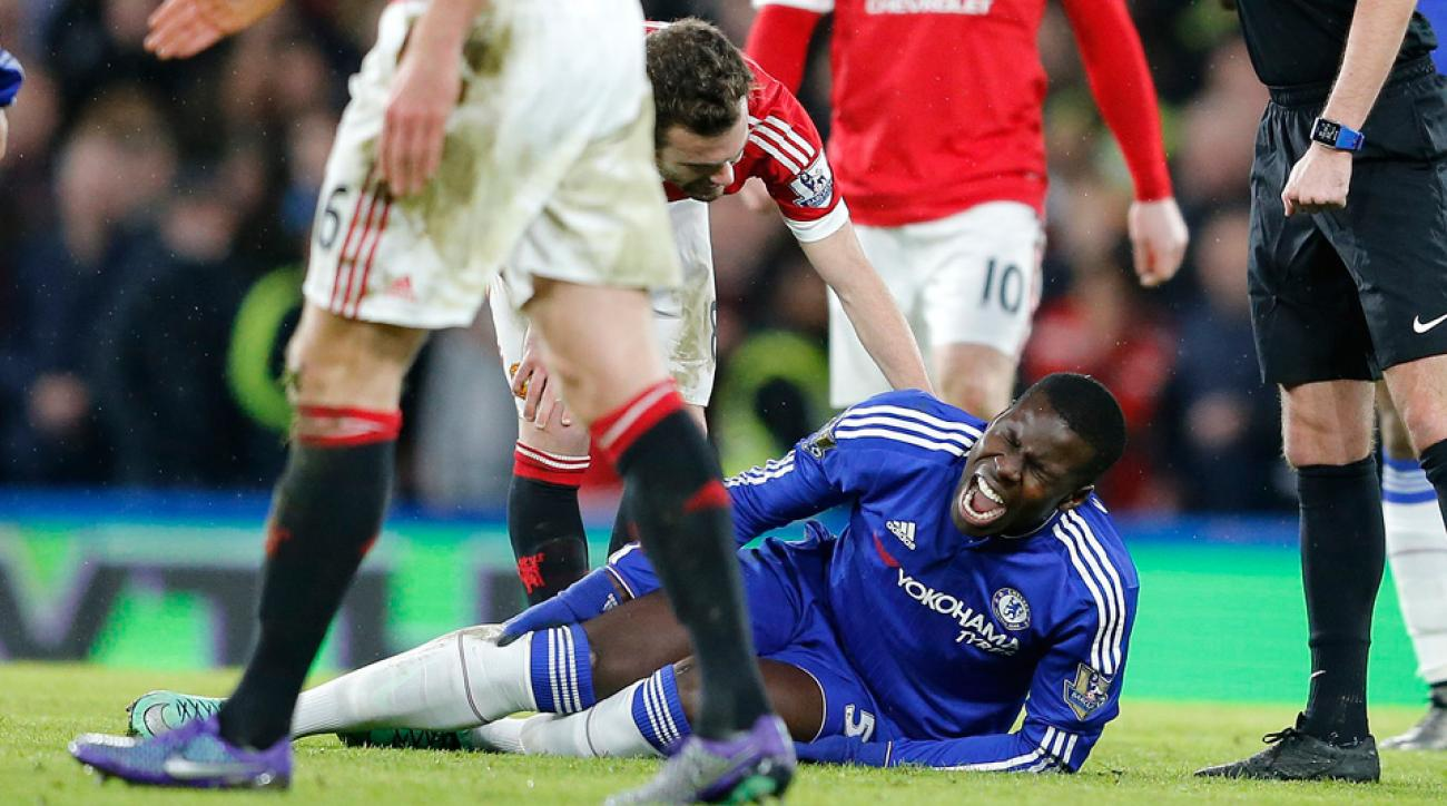 Chelsea's Kurt Zouma is out six months with an ACL tear