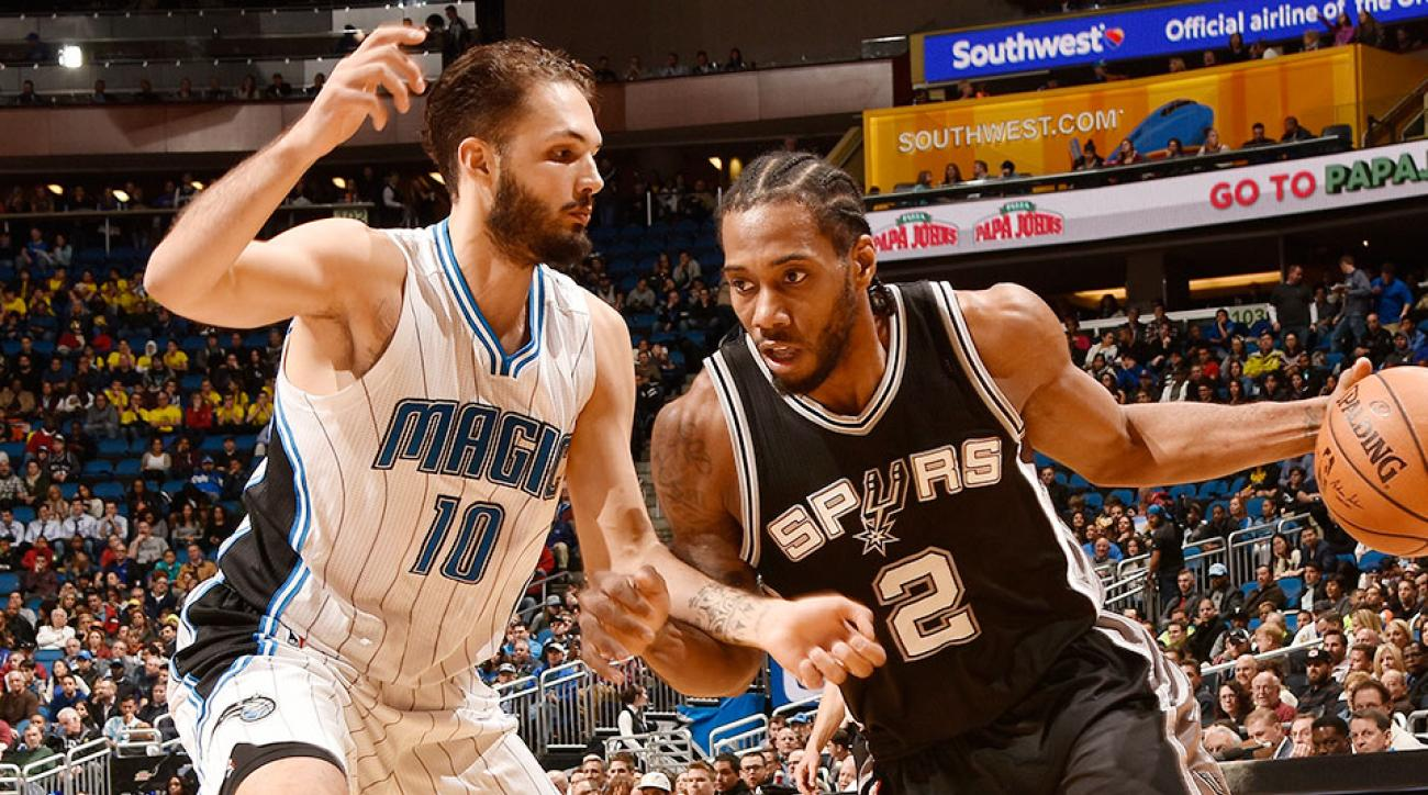 Kawhi Leonard game-winning jumper video Spurs Magic