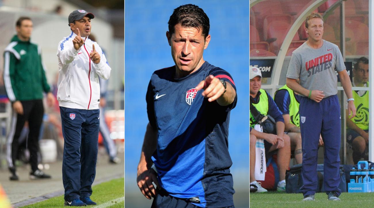 U.S. Soccer youth coaches Omid Namazi, Tab Ramos, John Hackworth