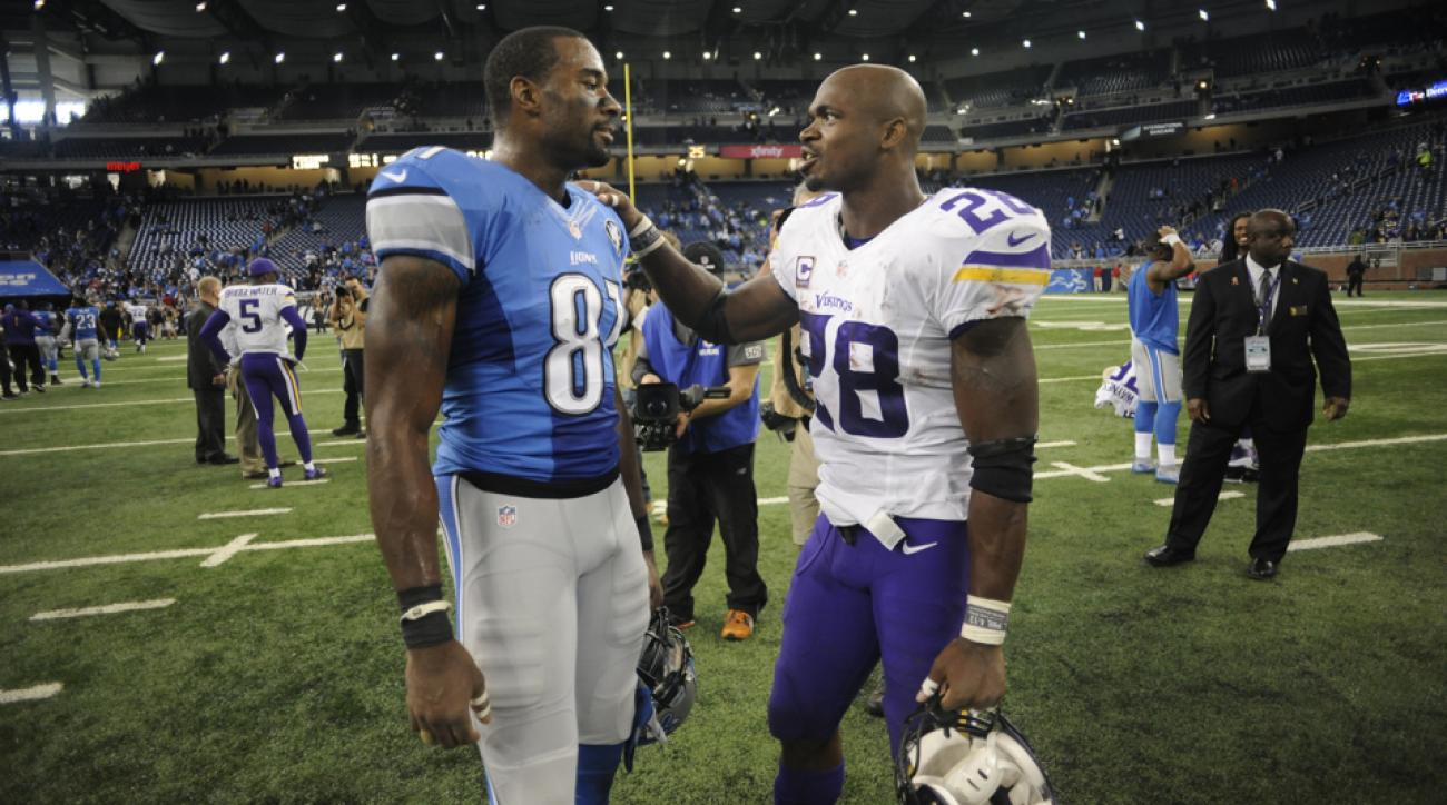 adrian peterson calvin johnson retirement