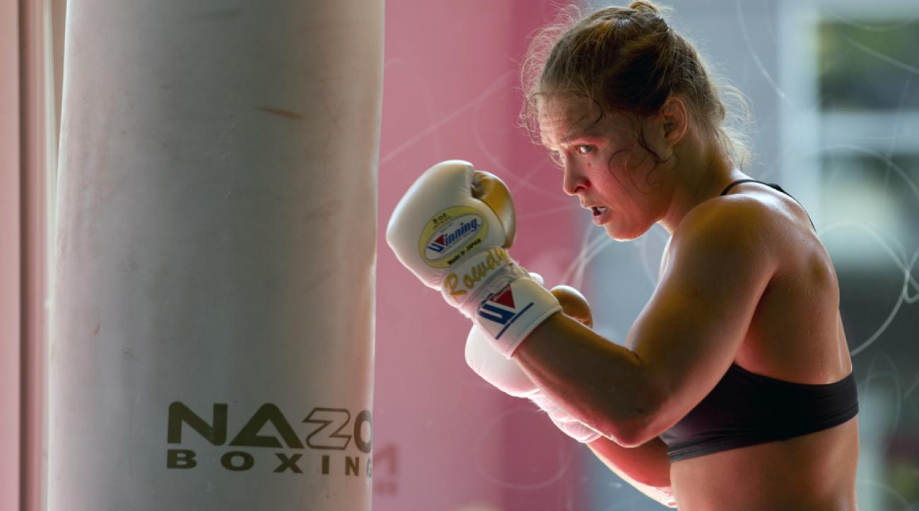 ronda rousey returns training holly holm rematch