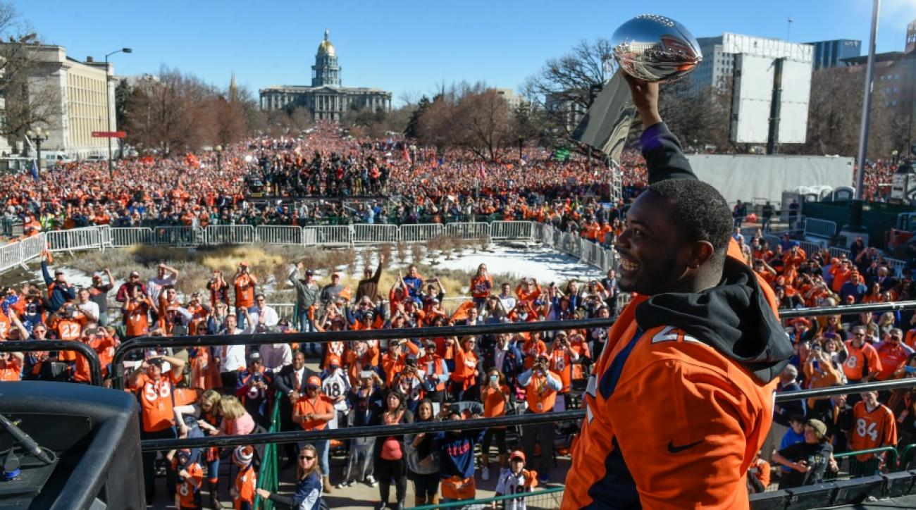 Denver Broncos fans missed school at an alarming rate on the day of the parade