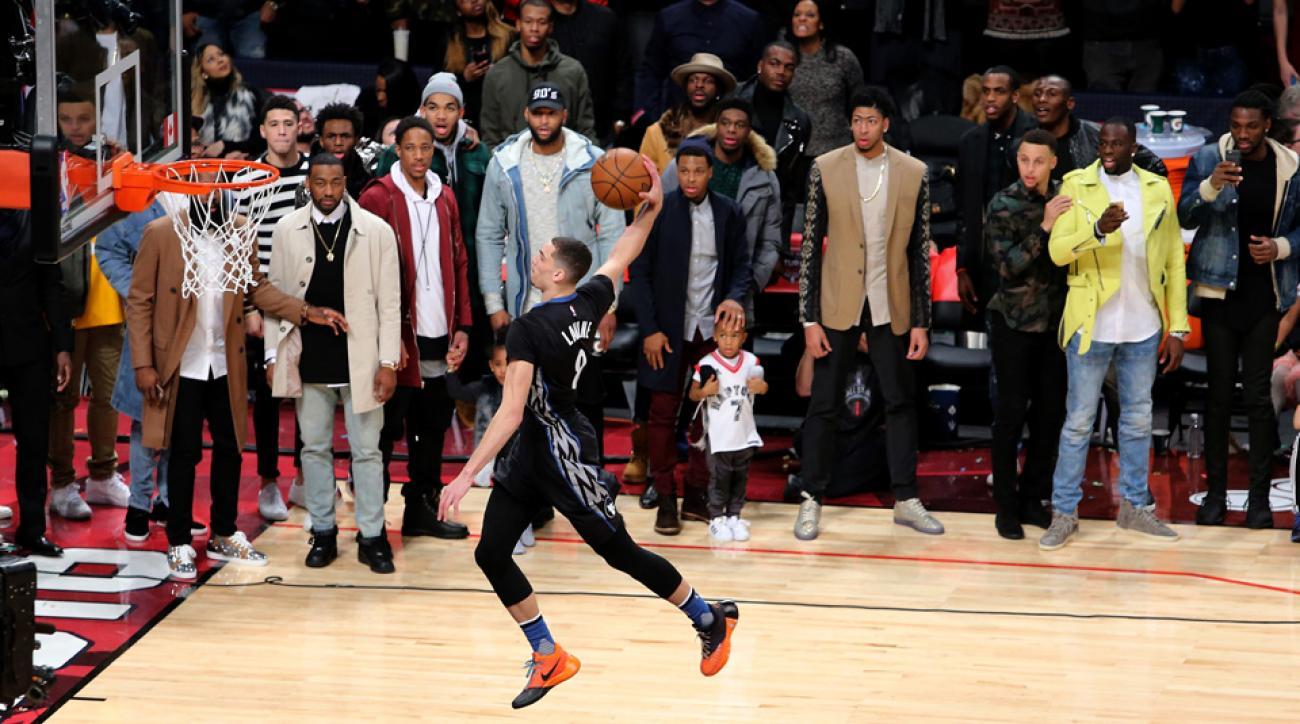 zach lavine dunk contest photo