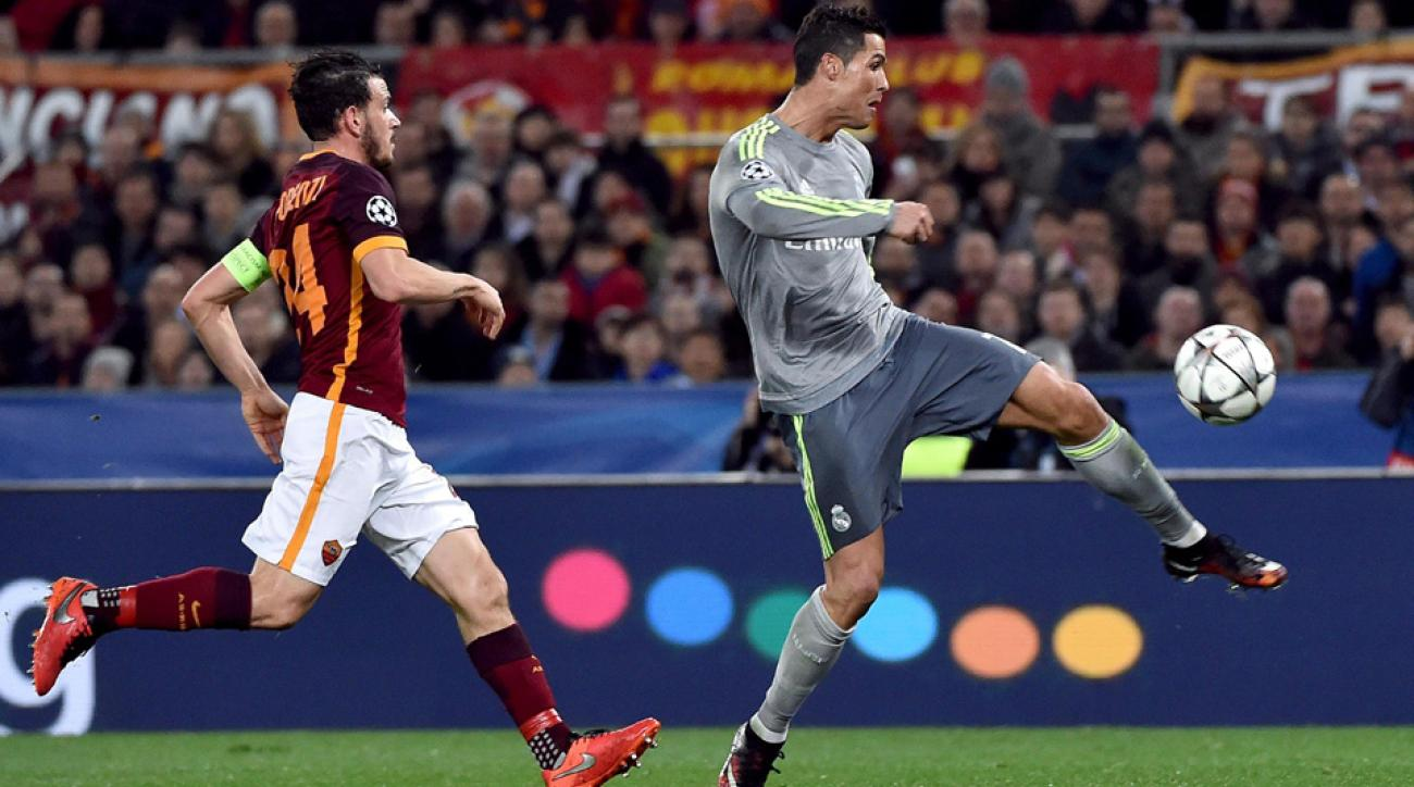 Cristiano Ronaldo scores a golazo for Real Madrid vs Roma in Champions League