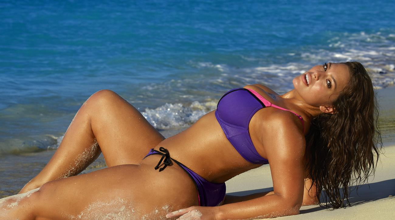 Ashley Graham was photographed by James Macari in Turks & Caicos. Swimsuit by Freya Lingerie.
