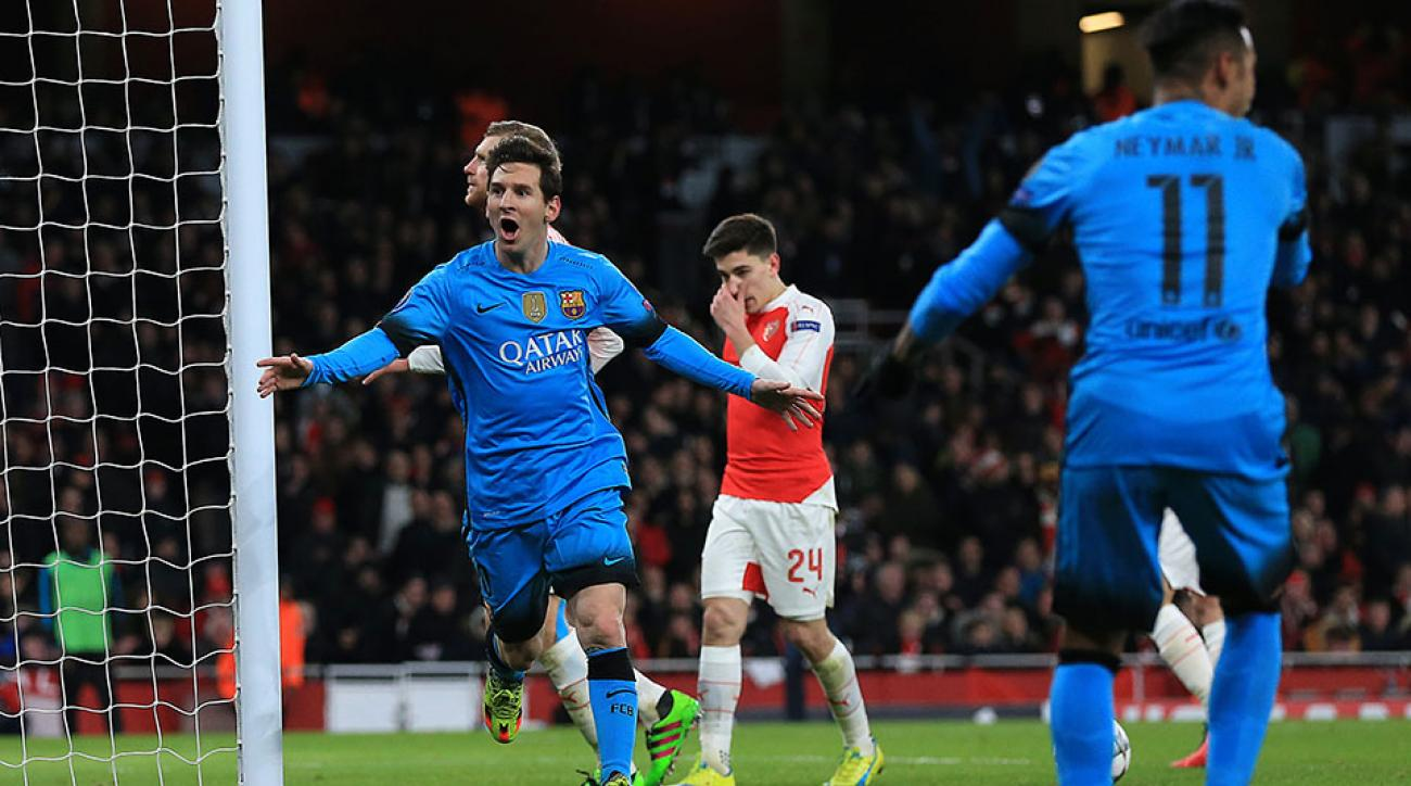 lionel messi goal barcelona champions league arsenal