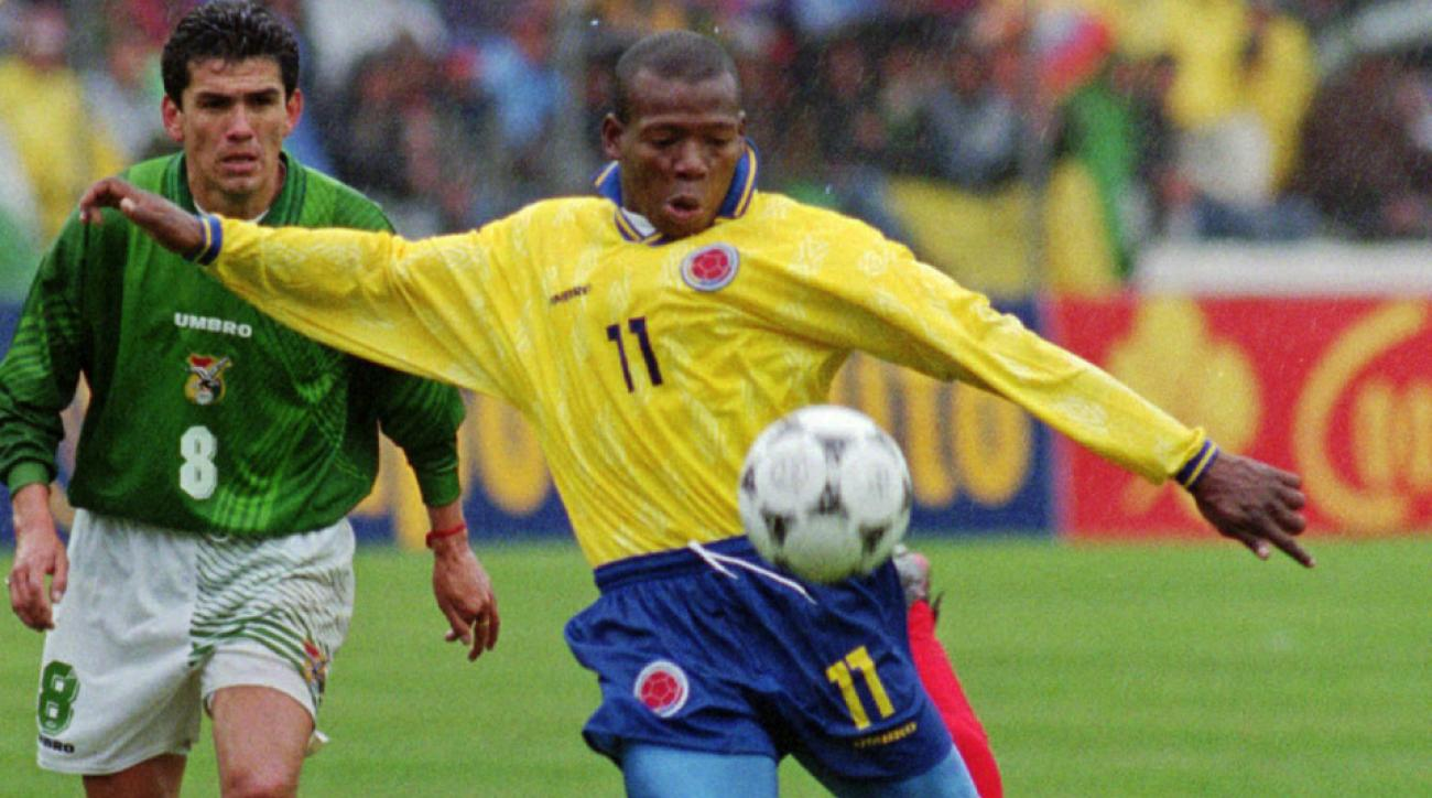 Colombia forward Faustino Asprilla