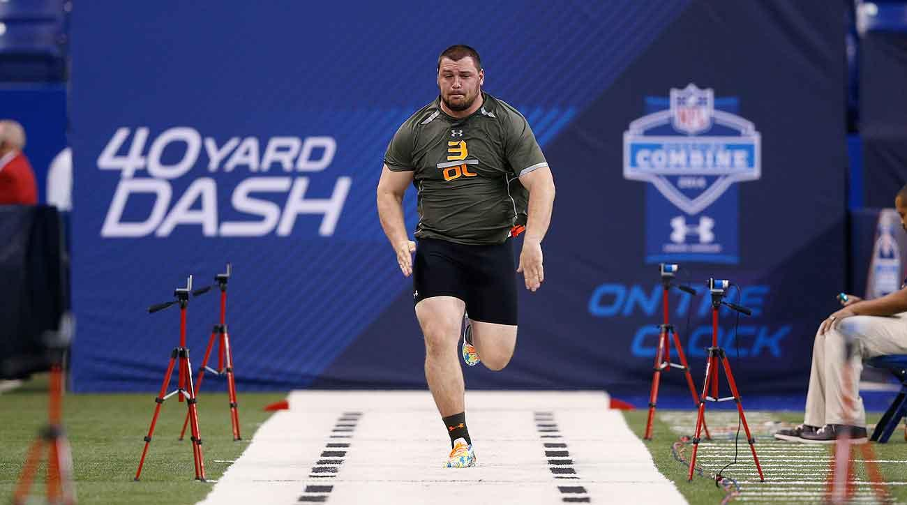 Combine staples like the 40-yard dash aren't a good barometer for some prospects, like big-bodied offensive linemen.