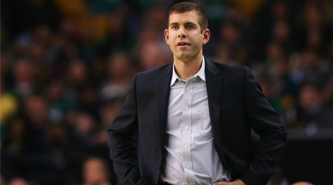 Brad Stevens dunked using a trampoline