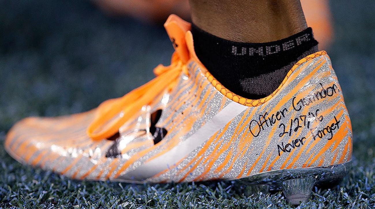 Maurice Canady shoes: NFL draft prospect honors police officer at NFL combine