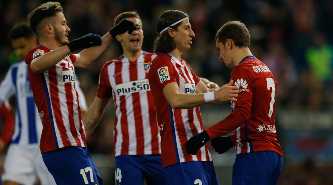 Atletico Madrid routs Real Sociedad in La Liga