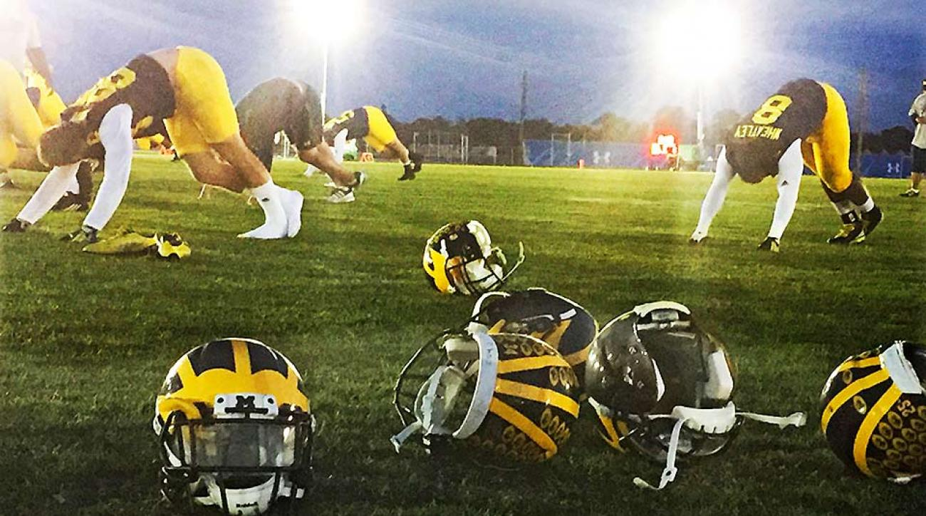 Michigan football holds spring practice at IMG academy in Florida