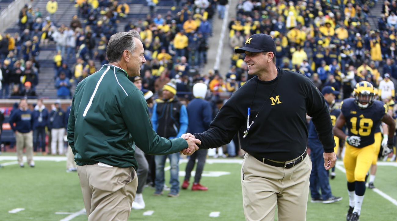 michigan spring practice harbaugh bielema dantonio