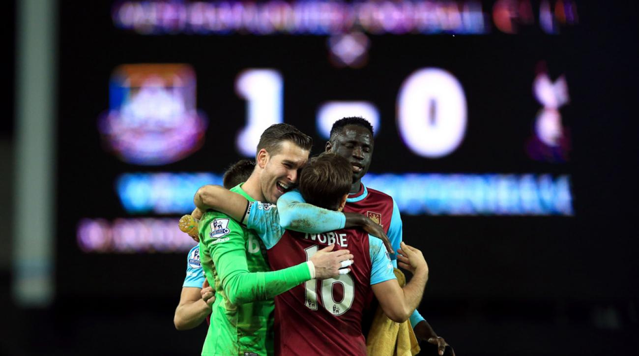 West Ham defeats Tottenham 1-0 in the Premier League