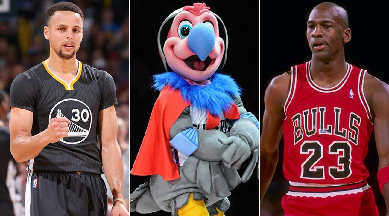 Stephen Curry, Chuck the Condor, Michael Jordan